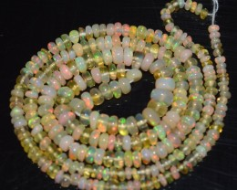 23.30 Ct Natural Ethiopian Welo Opal Beads Play Of Color