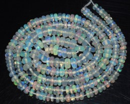 27.05 Ct Natural Ethiopian Welo Opal Beads Play Of Color