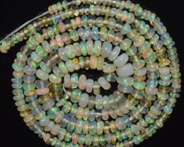18.95 Ct Natural Ethiopian Welo Opal Beads Play Of Color