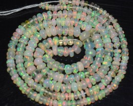 20.95 Ct Natural Ethiopian Welo Opal Beads Play Of Color