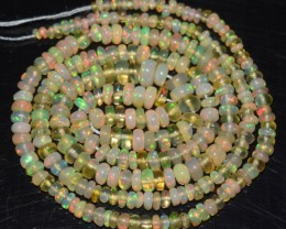 20.20 Ct Natural Ethiopian Welo Opal Beads Play Of Color