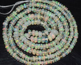 17.95 Ct Natural Ethiopian Welo Opal Beads Play Of Color