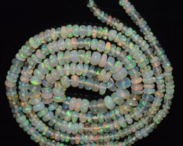 19.60 Ct Natural Ethiopian Welo Opal Beads Play Of Color