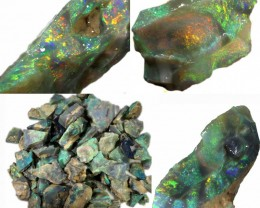 386.40 CTS GAMBLE  COLOURFUL ROUGH PARCEL FROM LIGHTNING RIDGE[BR6630]safe