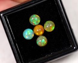2.09ct 5.2mm Ethiopian Welo Polished Opal Lot
