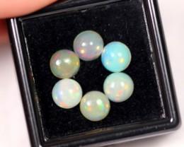 3.62ct 6mm Ethiopian Welo Polished Opal Lot
