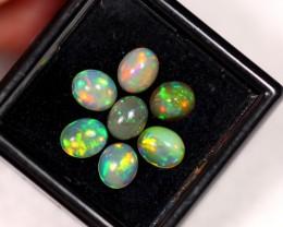 2.73ct 6x4mm Ethiopian Welo Polished Opal Lot