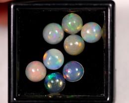 4.07ct 6mm Ethiopian Welo Polished Opal Lot