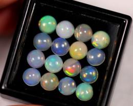 5.03ct 5mm Ethiopian Welo Polished Opal Lot 08