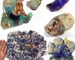 3340.00 CTS GAMBLE  COLOURFUL ROUGH PARCEL FROM LIGHTNING RIDGE[BR6633]