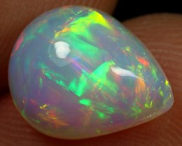 Black Friday 20% Offer 2.35cts Broad Chaff Multi Fire Ethiopian Opal