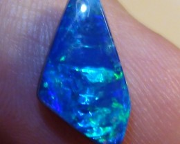 2.40 ct Doublet Shell Opal With Gem Blue Green Color