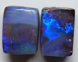 7.40CT VIEW PAIR QUEENSLAND BOULDER OPAL ZI142