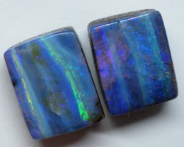 12.35CT VIEW PAIR QUEENSLAND BOULDER OPAL ZI143
