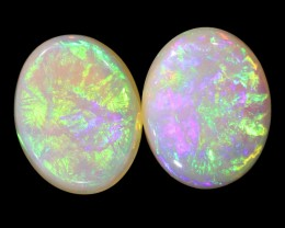 3.15Cts Solid fire opal Coober pedy Pair opals  WS373