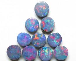 5mm  10 Stone Australian Doublet Opal Parcel