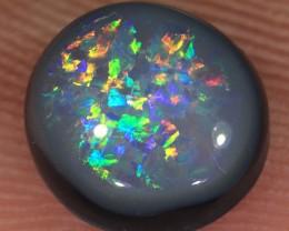 1.5ct 7.5x7mm Solid Lightning Ridge Dark Opal [LO-1176]