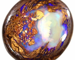 11.50 CTS BOULDER OPAL WOOD FOSSILS STONE [BMA4649]6
