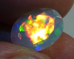 2.05 ct Stunning Full Face Gem Rainbow Welo Facet