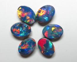 7mm  x 5mm  6 Stone Australian Gem Doublet Opal Parcel
