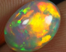 2.15cts Superb Strong Multi Neon Fire Natural Ethiopian Welo Opal