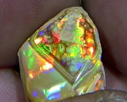 14.20 cts Ethiopian Mezezo CHAFF AGATE PATTERN brilliant opal N6 5/5