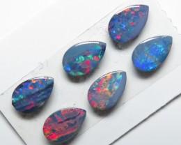 6mm  x 4mm  6 Stone Australian Doublet Opal Parcel
