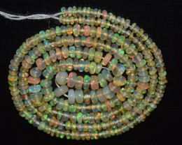 19.85 Ct Natural Ethiopian Welo Opal Beads Play Of Color