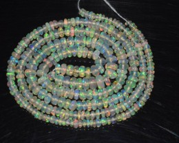 18.70 Ct Natural Ethiopian Welo Opal Beads Play Of Color