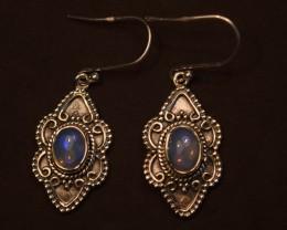 ETHIOPIAN OPAL EARRINGS 925 STERLING SILVER JE975