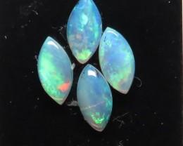 4 x Marquise parcel White / Precious South Australian Opal