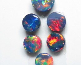 3.5mm & 3mm  6 Stone Australian Doublet Opal Parcel