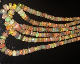 163.3 ct Gem Welo faceted bead opal.