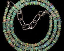 """26 Crts 3 mm to 4 mm 16.7"""" Natural Ethiopian Opal Beads Necklace 0"""