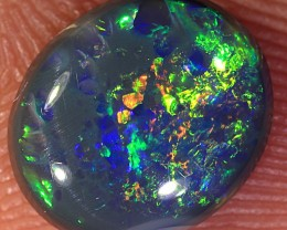1.3ct 9x7.5mm Solid Lightning Ridge Black Opal [LO-1197]
