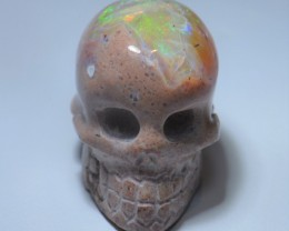 20ct No Reserve Skull Pendant Mexican Matrix Opal