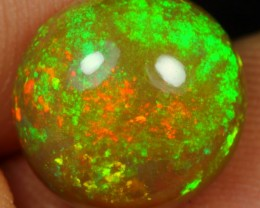 4.40cts Iridescence Green Galaxy Fire Natural Ethiopian Welo Opal