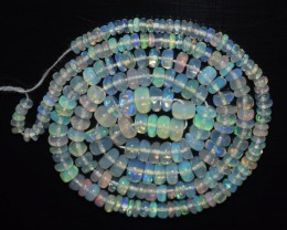 36.30 Ct Natural Ethiopian Welo Opal Beads Play Of Color