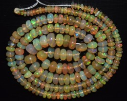 41.50 Ct Natural Ethiopian Welo Opal Beads Play Of Color