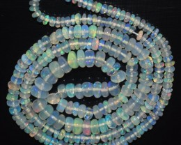 30.70 Ct Natural Ethiopian Welo Opal Beads Play Of Color