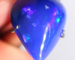 gorgeous dyed blue based pear shaped wello opal lots of great purple blue a