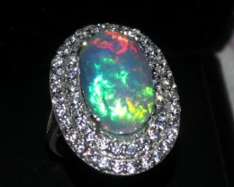Ethiopian Opal Ring 925 Sterling Silver Ring Size US (7)0174