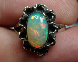 6.25sz Honeycomb Welo Ethiopian Silver  .925 Quality Ring