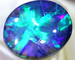 N1 -4.2 CTS  QUALITY BLACK OPAL RARE *STAR* PATTERN  INV-1040
