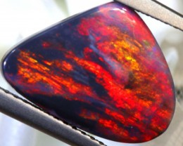 N1 - 2.5 CTS QUALITY BLACK OPAL BLAZING RED STONE INV-1049
