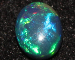 1.10 Crt Natural Fire Ethiopian Black Smoked Opal Cabochon 0506