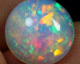 2.40cts Flashing Iridescence Rainbow Fire Natural Ethiopian Welo Opal