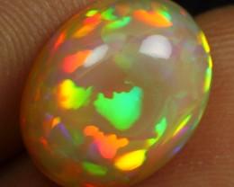 AAA 4.55cts Neon Cascade Pattern Natural Ethiopian Welo Opal