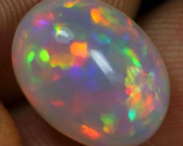 Free Shipping 5.10cts Strong Multi Flash Rainbow Fire Ethiopian Opal