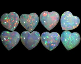 3.60 CTS HEART SHAPE CRYSTAL OPAL PARCEL  DEAL  CALIBRATED [C-SAFE223]